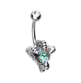Dragon's Claw Belly Button Ring Bar