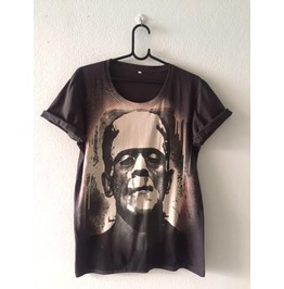Frankenstein Movie Pop Rock Indie Fashion T Shirt M