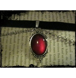 Necklace (Velvet) Red Stone Chain