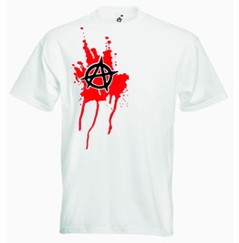 Mens Fit Anarchy Blood Splat Tshirt Alternative Clothing