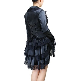 Cosplay Style Elaborate Corset Satin Jacket Regular & Plus 36750 Cs