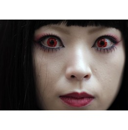 Gothic Red Vampire Halloween Contact Lenses