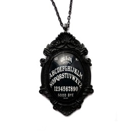 Black White Ouija Board Necklace