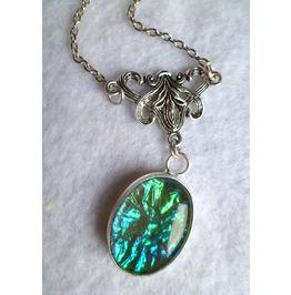 Opalescent Glass Necklace Elvish Victorian Wedding Elven Game Thrones