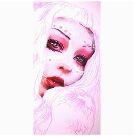 Pink Gothic Lolita Shower Curtain
