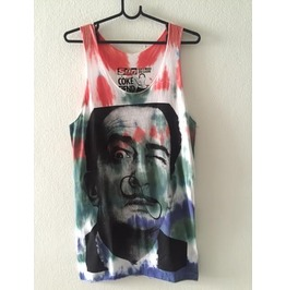 Salvador Dali Mustache Surreal Pop Rock Color Fashion Tank Top