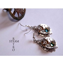 Steampunk Bridal Vitrail Reinassance Earrings Steamretro Steampunk Jewelry