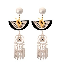 Unique Pretty Dream Catcher Native American Indian Design Earrings