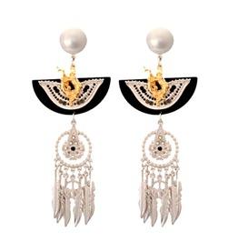 Unique Pretty Dream Catcher Native American Indian Design Earrings