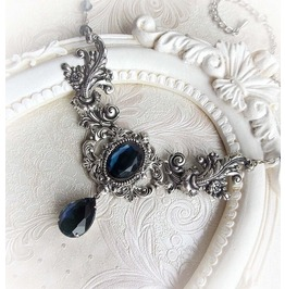 Montana Blue Necklace Gothic Indigo Sapphire Necklace Victorian Necklace