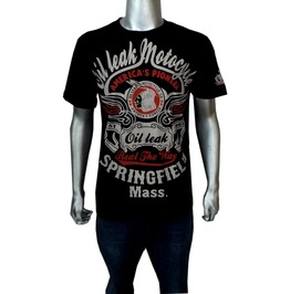 Oil Leak Motocycles Shirt America's Pioneer Brand Biker Rockabilly