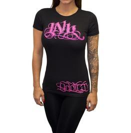 Inkaddict Ink Meas Women's Tee Pink Print
