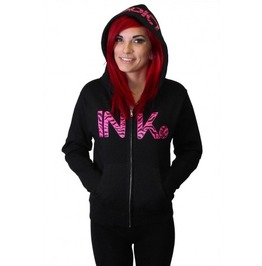 Ink Zebra Women's Lightweight Zip Hoodie