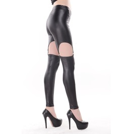 Black Lava Wet Look Garter Leggings A236qs Scroll Down Read B4 U Order!
