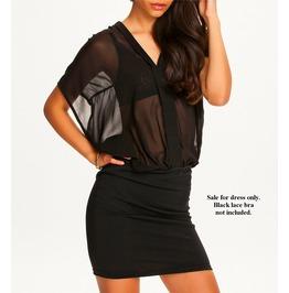 Chiffon Perspective Sexy Hip Skirt Dress 119197 Qs Scroll & Read B4 U Order