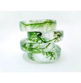 Green Moss Resin Ring
