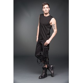 Black Gothic Industrial Punk 3/4 Shorts Removable Bondage Straps