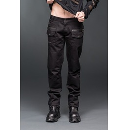 Black Gothic Industrial Punk Pants Decorative Stitching Knees $6 To Ship