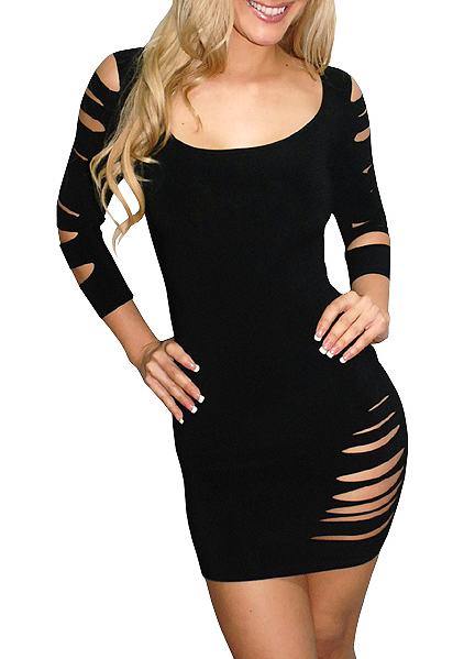sexy_cut_three_quarter_sleeves_lingerie_dress_bustiers_and_corsets_4.PNG