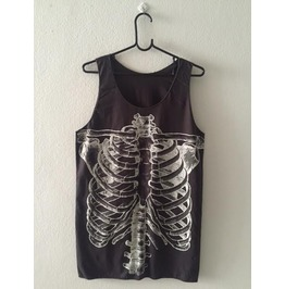 Skull Dead Body Street Fashion Pop Rock Tank Top Vest M