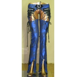 Italiano Couture Metallic Blue Chaps Pants