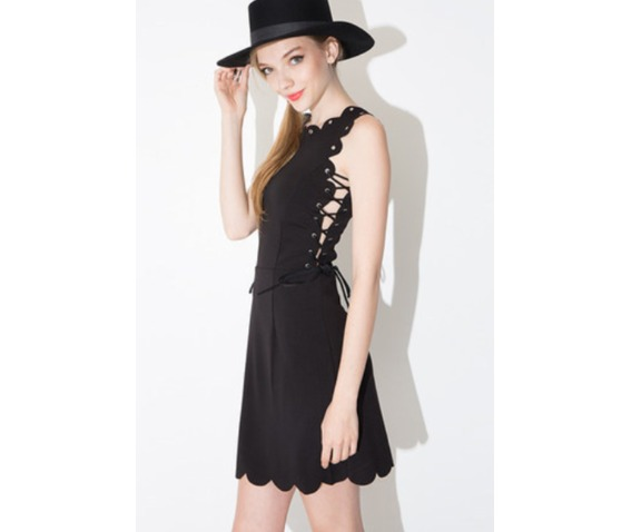 unique_lace_tie_wave_trim_short_black_dress_dresses_6.PNG