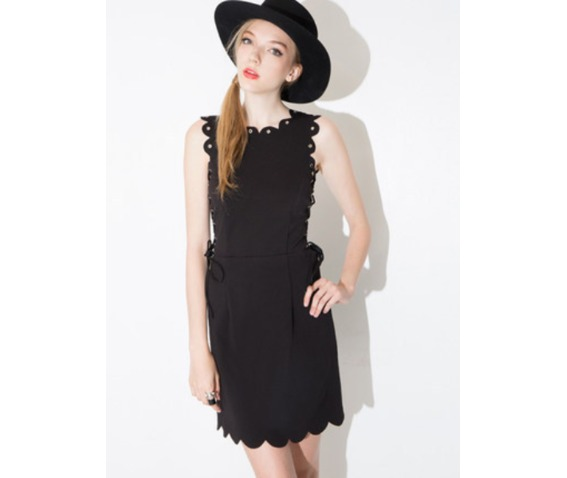 unique_lace_tie_wave_trim_short_black_dress_dresses_5.PNG