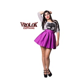 Purple Skater Skirt, High Waisted Skirt, Pin Up Skirt, Lolita Skirt