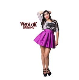 Purple Skater Skirt, High Waisted Skirt, Pin Up Skirt, Lolita Skirt