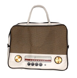 Rockit Radio Shoulder Handbag Retro Vintage Geaser White