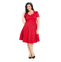 Voodoo Vixen Eliza Plus Size Taffeta Flare Dress