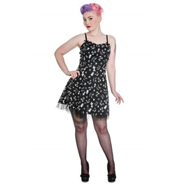 Creepy Horror Mini Dress Gothic Lolita Style Halloween Dress Hell Bunny Xl