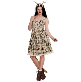 Georgie Gothic Ruffle Steampunk Lolita Dress Hell Bunny Spin Doctor