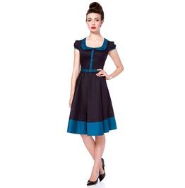 Voodoo Vixen Lina Navy Retro Flare Dress