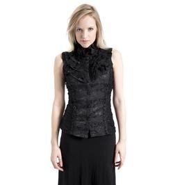 Jawbreaker Mina Victorian Gothic Black Ruffle Top