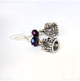 Handmade Gothic Crown Earrings
