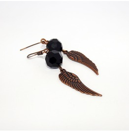 Handmade Steampunk Cooper Wings Earrings