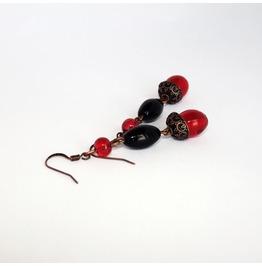 Handmade Gothic Black Red Earrings