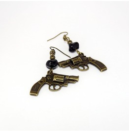 Handmade Brass Guns Earrings