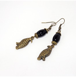 Handmade Brass Eagle Earrings