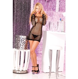 Pink Lipstick Nothing Net Seamless Mini Dress