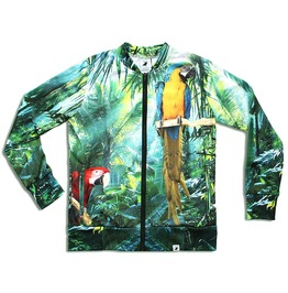 'jungle Call' Men's Printed Bomber Sweatshirt