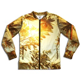 'palm Springs' Women's Printed Bomber Sweatshirt