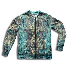 'alligator' Women's Printed Bomber Sweatshirt