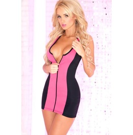 Pink Lipstick Deep Sea Diver Scuba Dress