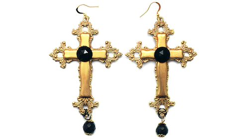 Cross Necklace And Rosary Inspired Fashion