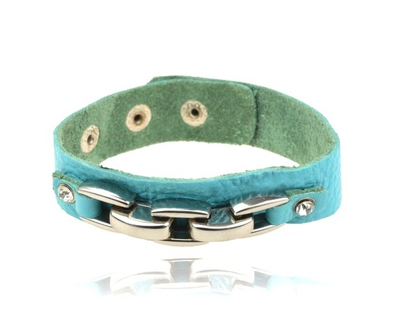 cool_turquoise_blue_leather_wristband_metal_bar_crystal_wrist_and_sweatbands_3.jpg