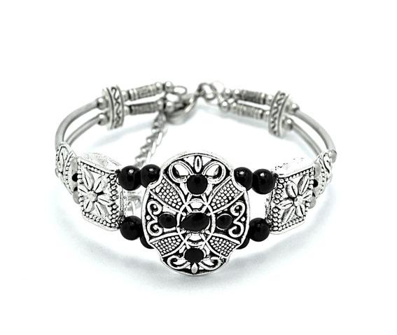 pretty_hand_crafted_tibetian_silver_bracelet_flower_design_black_bead_bracelets_2.jpg