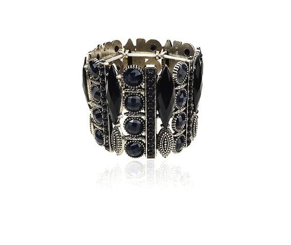 darkness_unique_large_black_gem_elasticated_metal_bracelet_bracelets_2.jpg