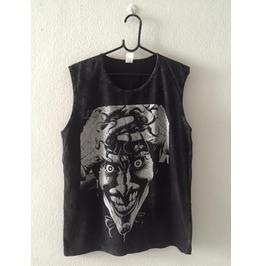 Skull Punk Rock Fashion Stone Wash Vest Tank Top M